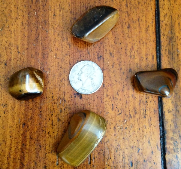 Tiger's Eye Tumbled Stone, Harmonious Balanced Action With Understanding & Discernment